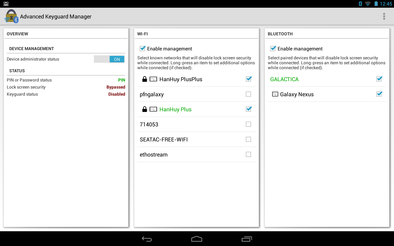 Advanced Keyguard Manager - screenshot