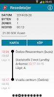 Screenshot of Länstrafiken Örebro