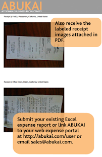 Expense Reports, Receipts with ABUKAI Expenses- screenshot thumbnail