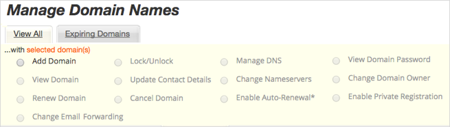 Manage DNS option unavailable