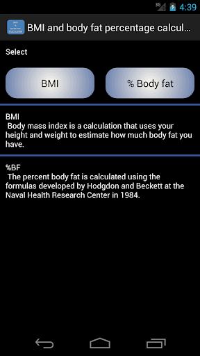 BMI Body Fat Calculator