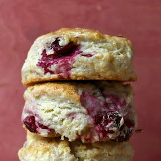 Fresh Cranberry and Meyer Lemon Biscuits.