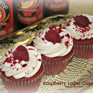 Raspberry Lager Cupcakes