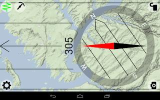 Screenshot of AR Bearing + Baseplate Compass