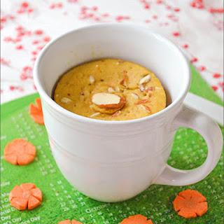 Carrot Mug Cake / Microwave Carrot Cake ~ Eggless!!