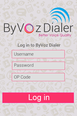 ByVoz Dialer – Screenshot