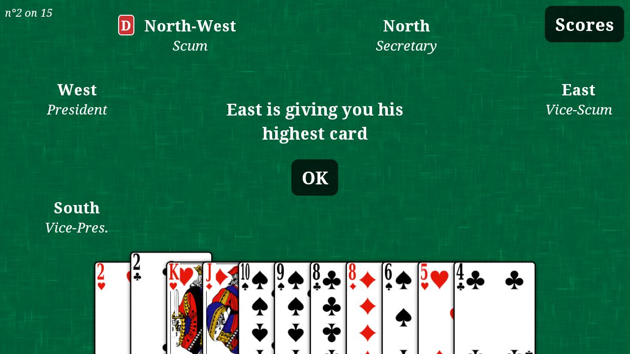 president game card online