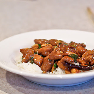 Kung Pao Chicken from The Chinese Takeout Cookbook.