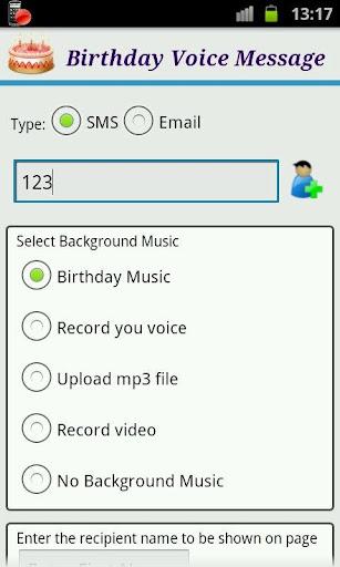 Birthday Voice Message