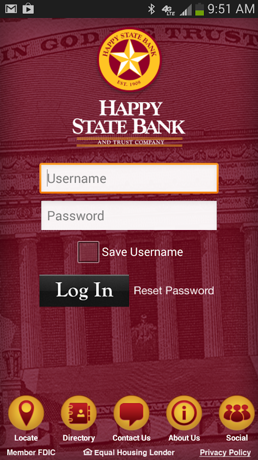 Happy State Bank- screenshot