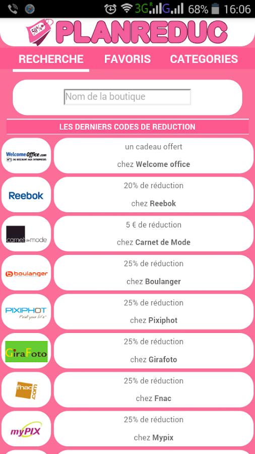 Plan reduc codes promo gratuit android apps on google play - Code reduc cdiscount frais de port gratuit ...