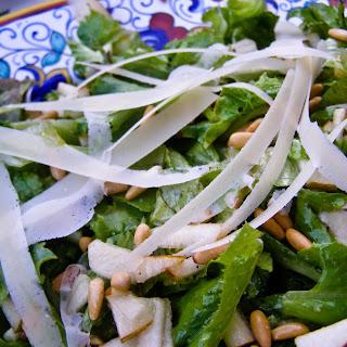 Pear & Pine Nut Salad with Honey Vinaigrette