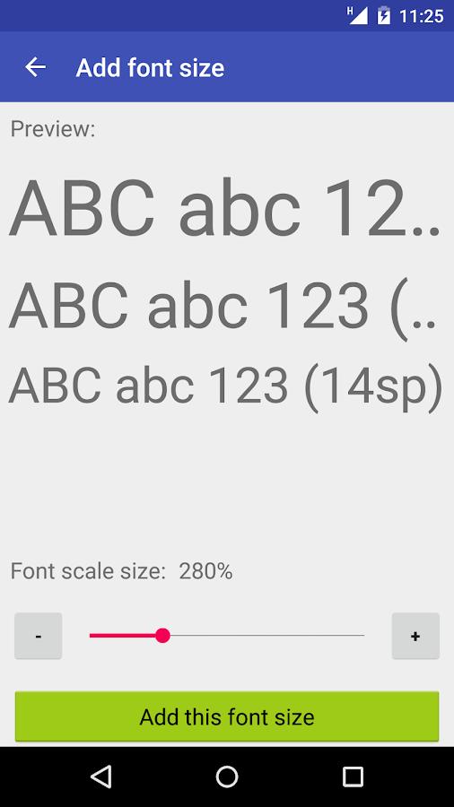 Big Font (change font size) - screenshot