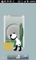 Screenshot of Panda washing Live Wallpaper
