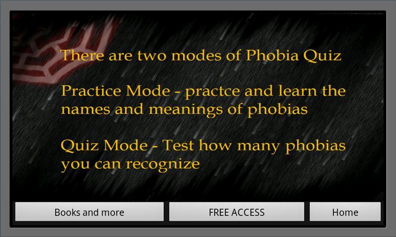 phobia strip quiz