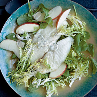 Broiled Tilapia with FriséE-Apple Salad and Mustard-Parsley Sauce Recipe