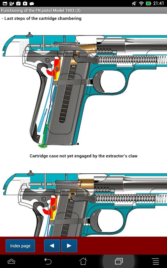 FN pistol model 1903 explained- screenshot