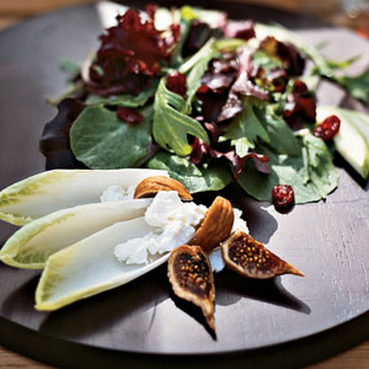 Mesclun Greens with Dried Figs and Goat Cheese Recipe