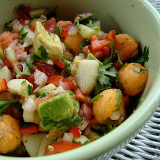 Hot and Sweet Salsa with Avocado and Melon