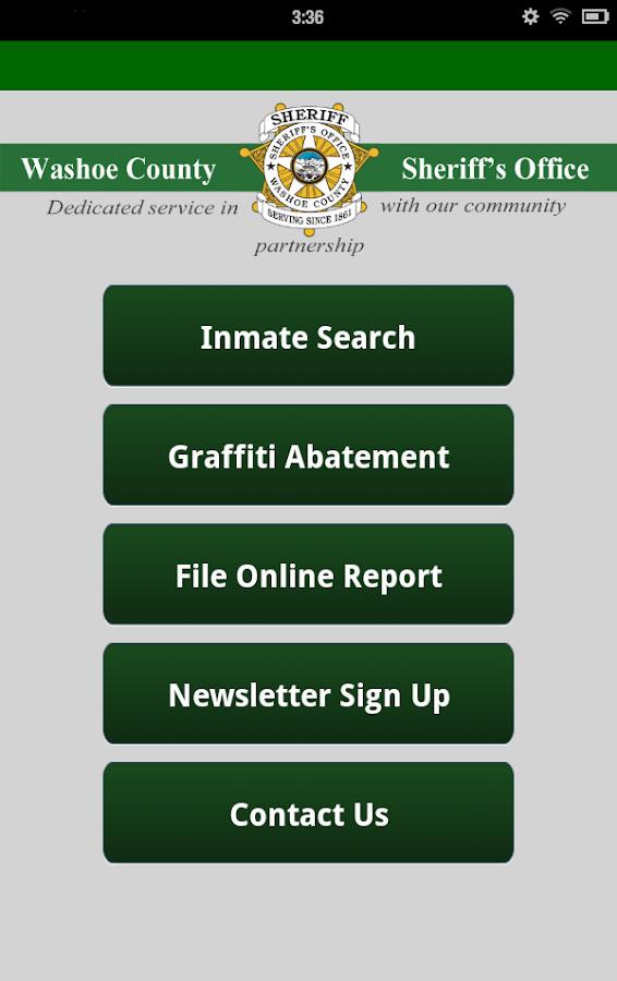 Washoe County Sheriff- screenshot