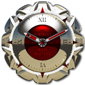 Red Magic Clock Widget