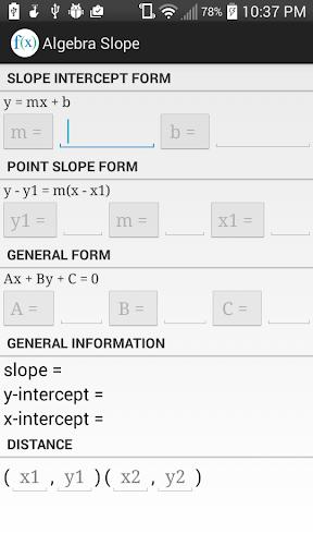 Algebra Slope.