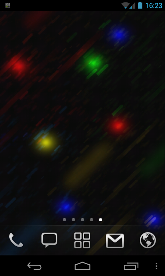 Flying Lights Live Wallpaper - screenshot