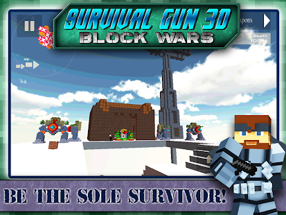 Survival Gun 3d - Block Wars