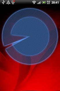 Polarizer Analog Clock: Blue- screenshot thumbnail
