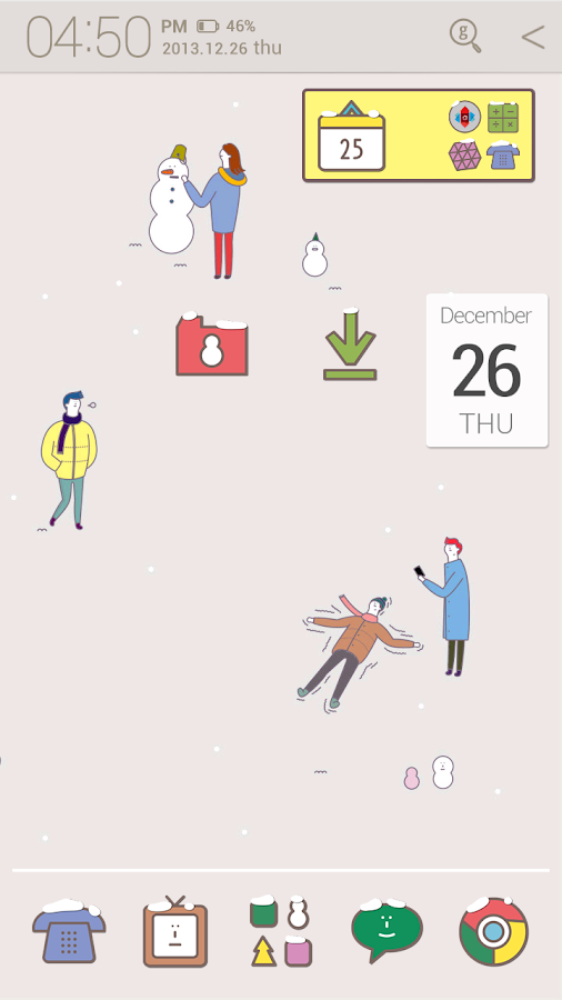 winter story_ATOM theme - screenshot