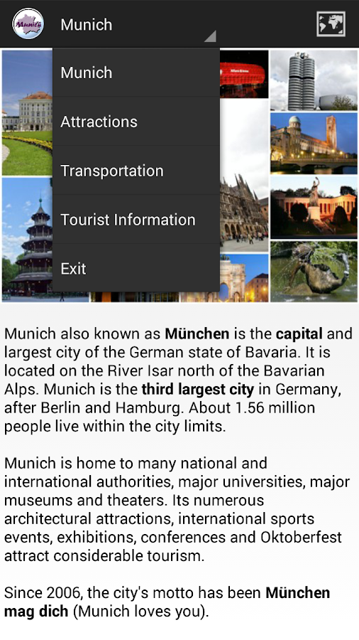 Munich City Guide- screenshot