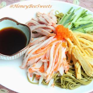 Matcha soba noodle salad -AFF featuring Japan