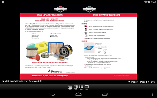 Sunbelt Parts Catalog