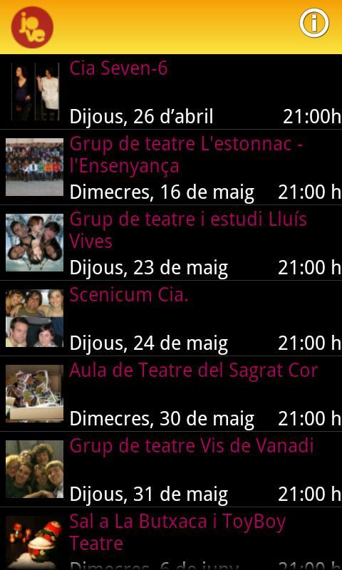 Mostra de Teatre Jove - screenshot