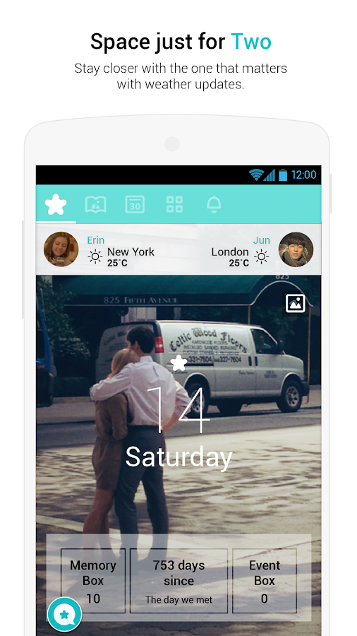 Between - app for couples - screenshot