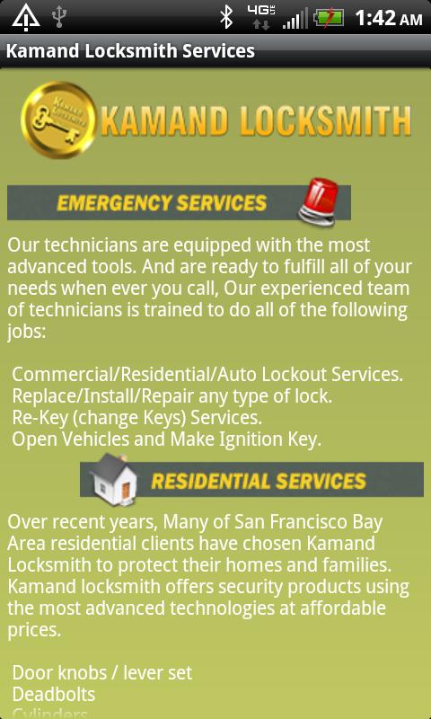 Kamand Locksmith Services- screenshot
