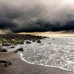 Storm rising by Bragi Kort - Landscapes Weather ( shore, clouds, see, weather, seascape, storm,  )