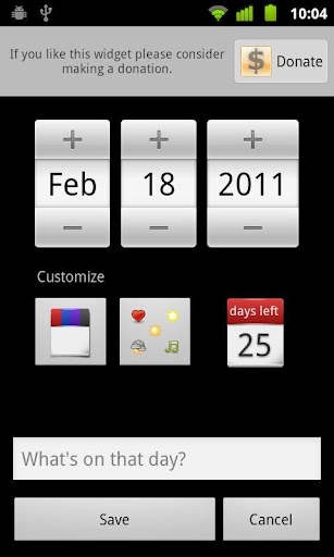 Days Left Widget Pro screenshot