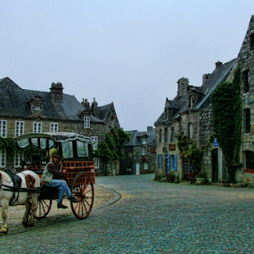 Locronan by Dominic Jacob - Buildings & Architecture Public & Historical ( old, locronan, old town, little, france, town,  )