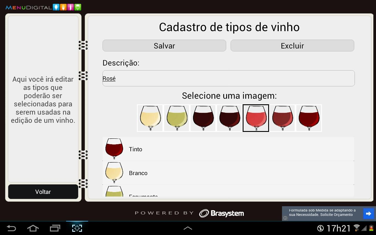 Carta de Vinhos para Tablets- screenshot