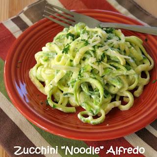 Easy Zucchini Noodle Alfredo.