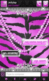 Luxury Theme Purple Tiger SMS★- screenshot thumbnail