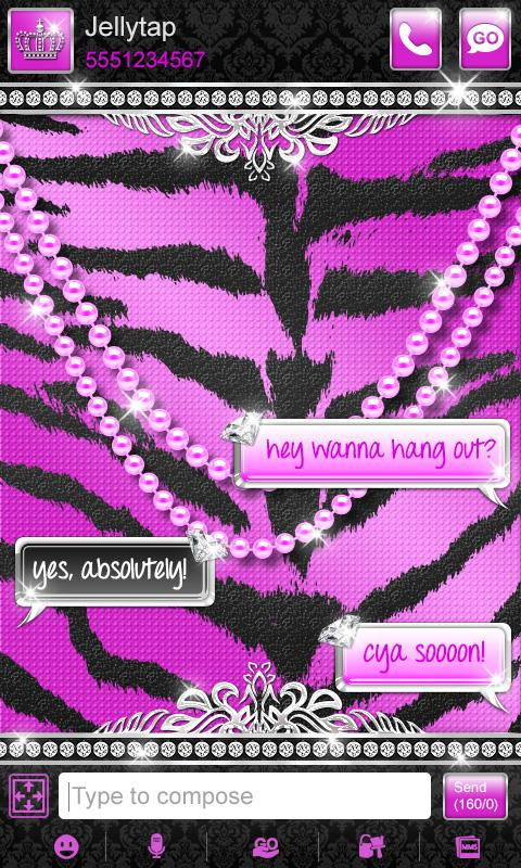 Luxury Theme Purple Tiger SMS★- screenshot