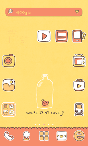 Where LUV dodol launcher theme