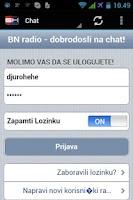 Screenshot of BN Radio Android aplikacija