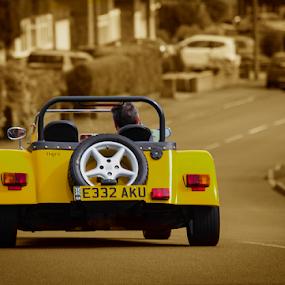 Yellow Car by John Dutton - Transportation Automobiles ( car, automobile, sunny day )