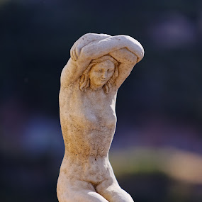 The Female Form  by . Reedd2 - Artistic Objects Still Life ( statue, naked, woman, arms folded, stone )