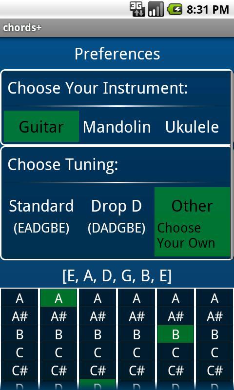 chords+ chord finder free- screenshot
