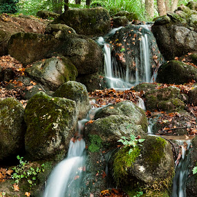 Waterfalls of a river by Giannis Paraschou - Landscapes Waterscapes ( naousa, agios nikolaos naousa, agios nikolaos greece, agios nikolaos,  )