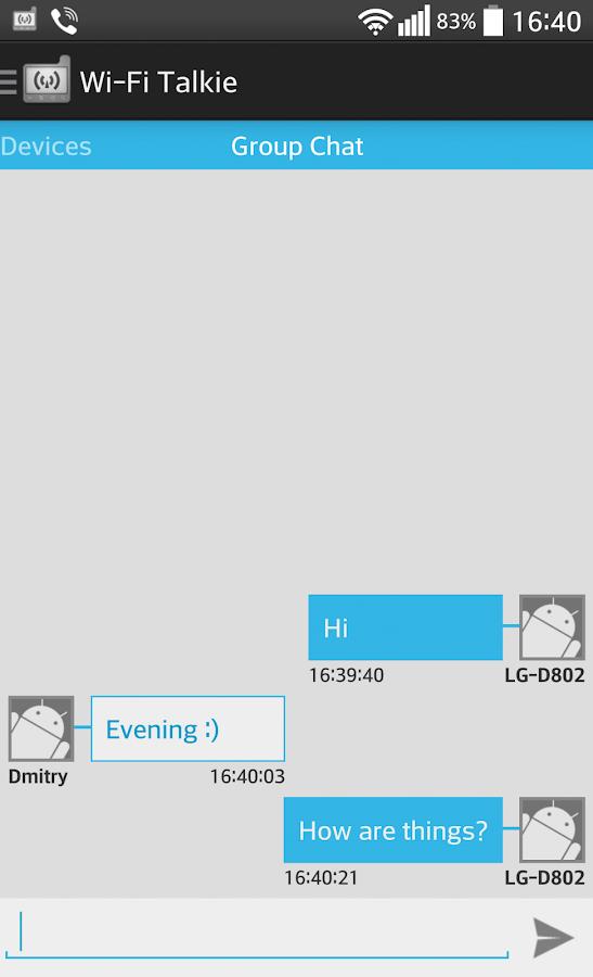 Wi-Fi Talkie - screenshot